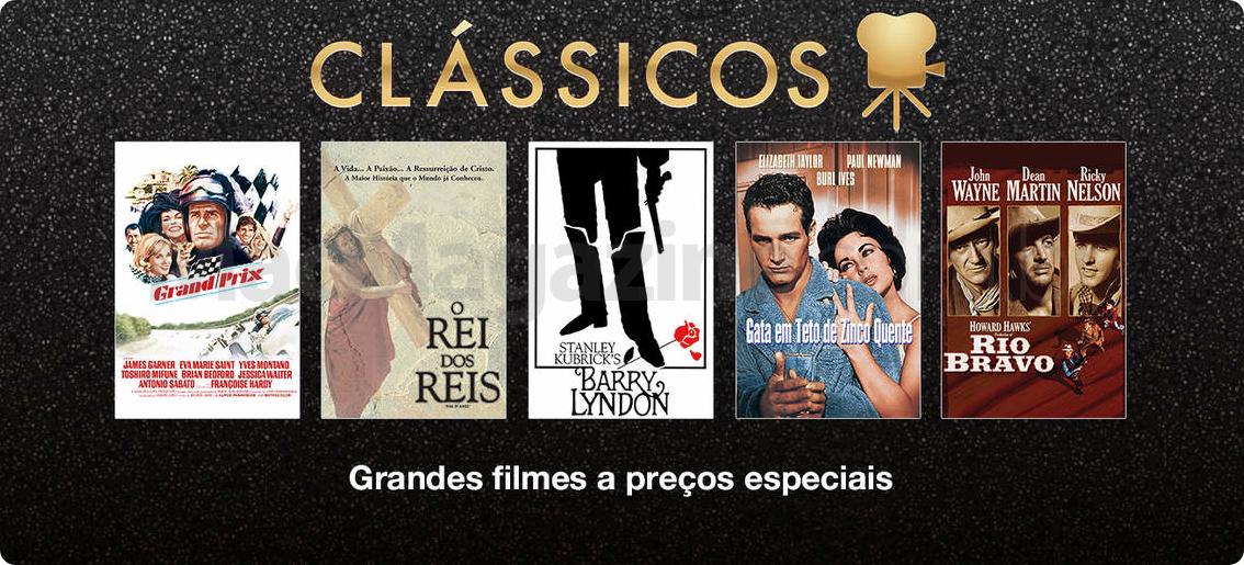 Banner de filmes clássicos na iTunes Store