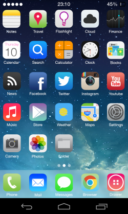 Theme com tema do iOS 7