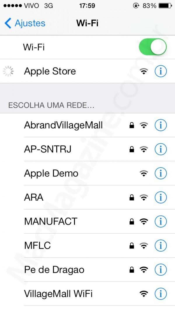 Wi-Fi da Apple Store - VillageMall
