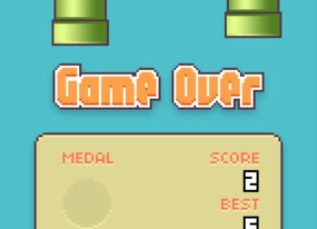 Game Over em Flappy Bird