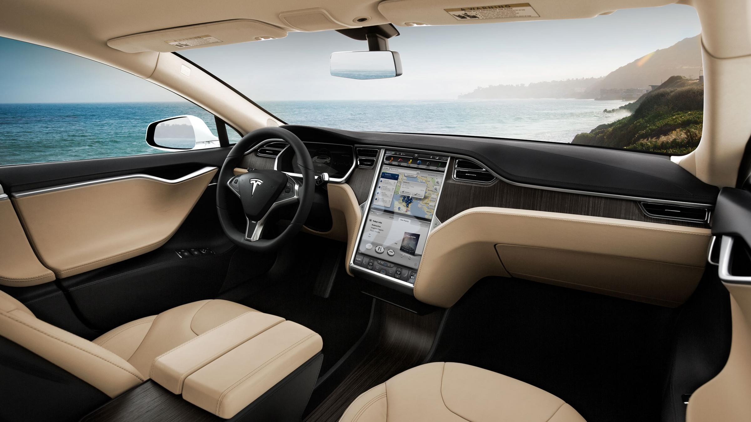 Interior do Tesla S