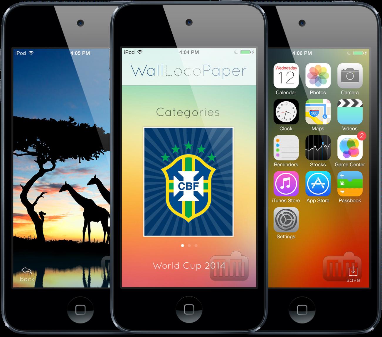 App WallLocoPaper para iPhones/iPods touch