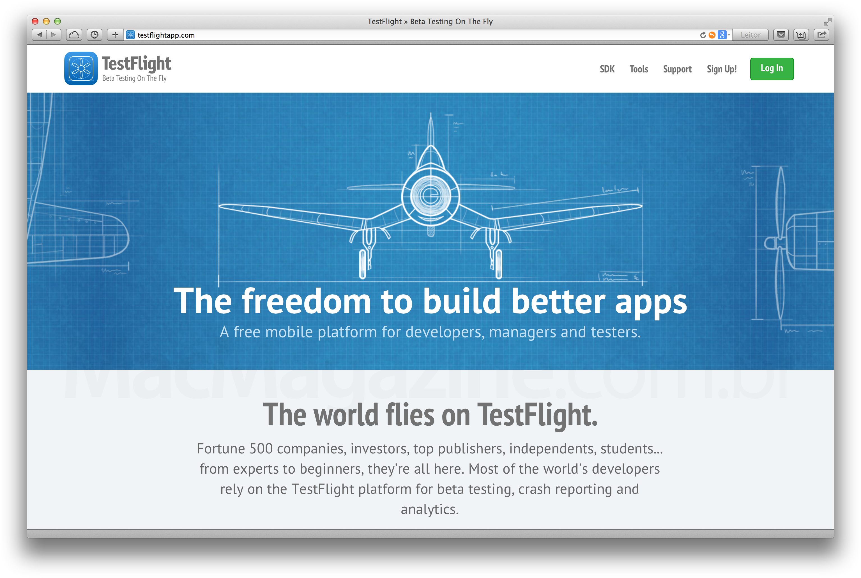 Site do TestFlight