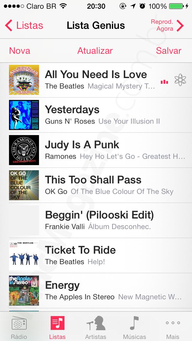 Recurso Genius no iOS 7