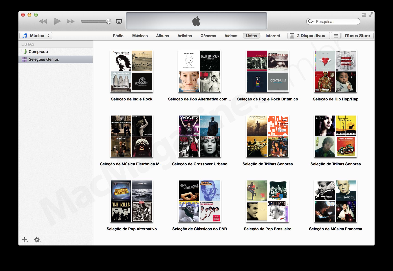Recurso Genius no iTunes 11