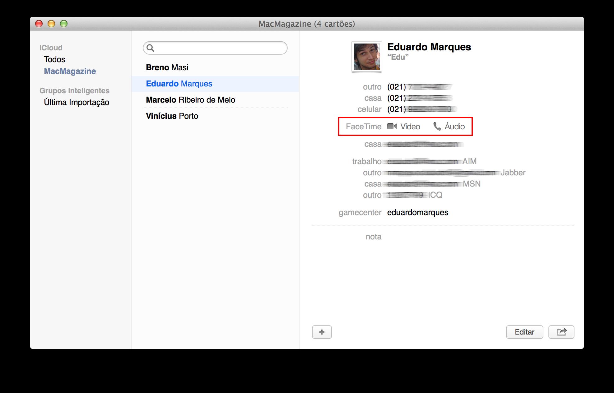 FaceTime no OS X 10.9.2