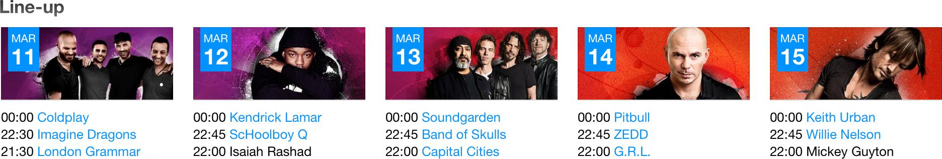 Line-up do iTunes Festival no SXSW