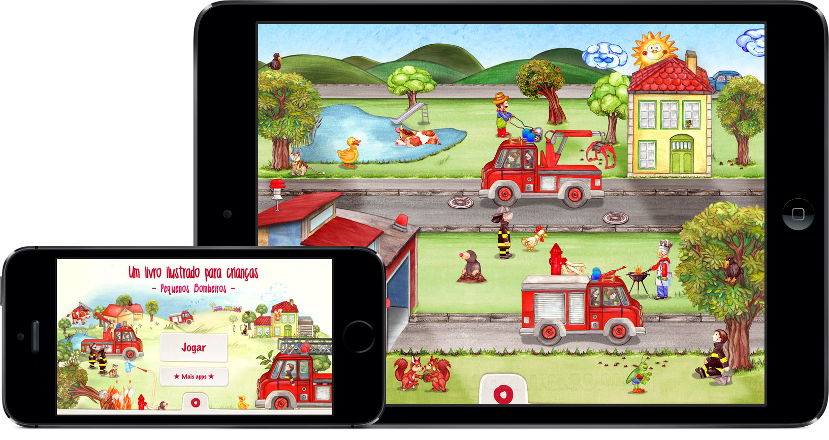 App/livro Pequenos Bombeiros para iOS