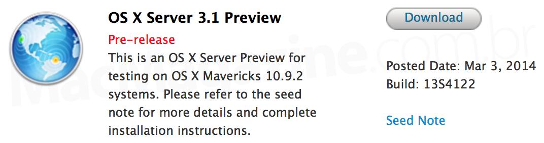 OS X Server 3.1 Preview (13S4122)