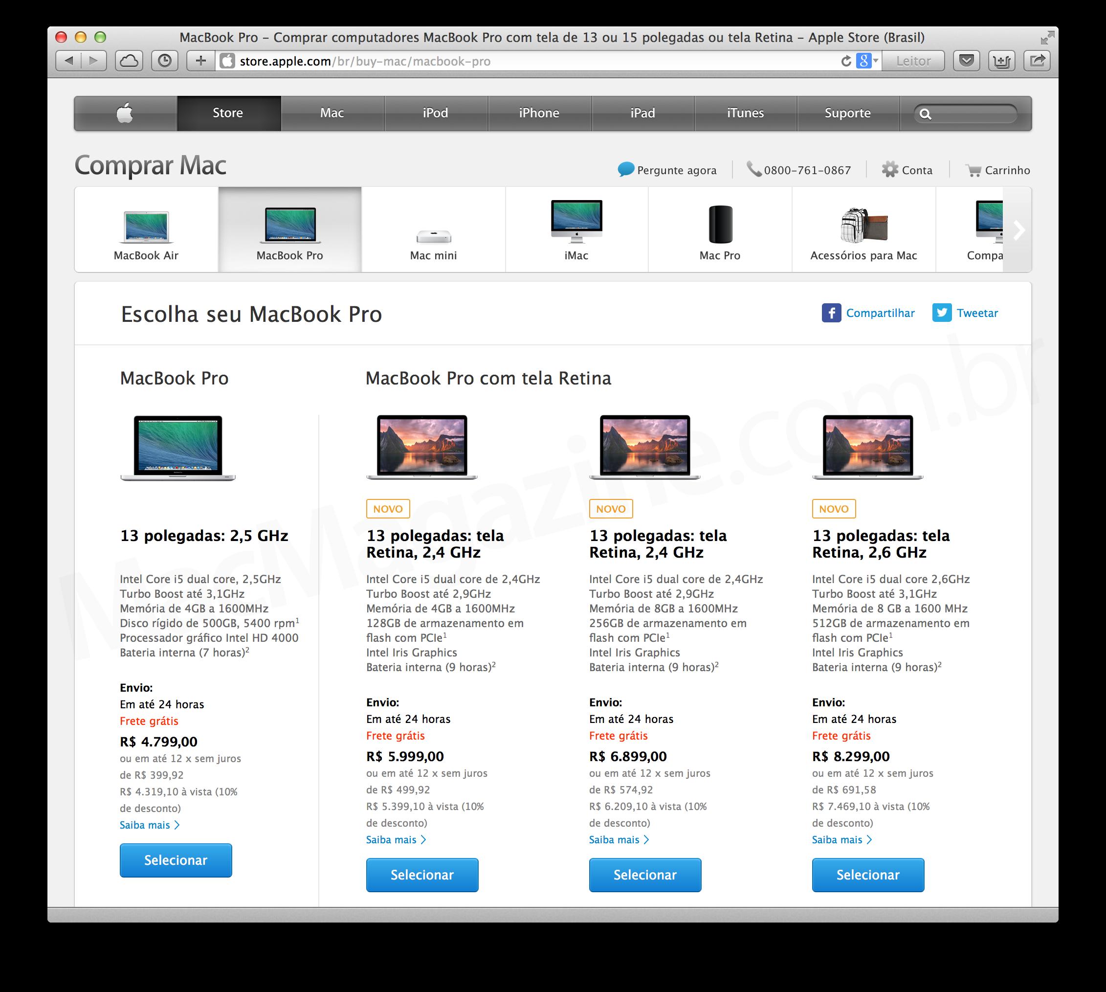 MacBook Pro de 13 polegadas sendo aposentado