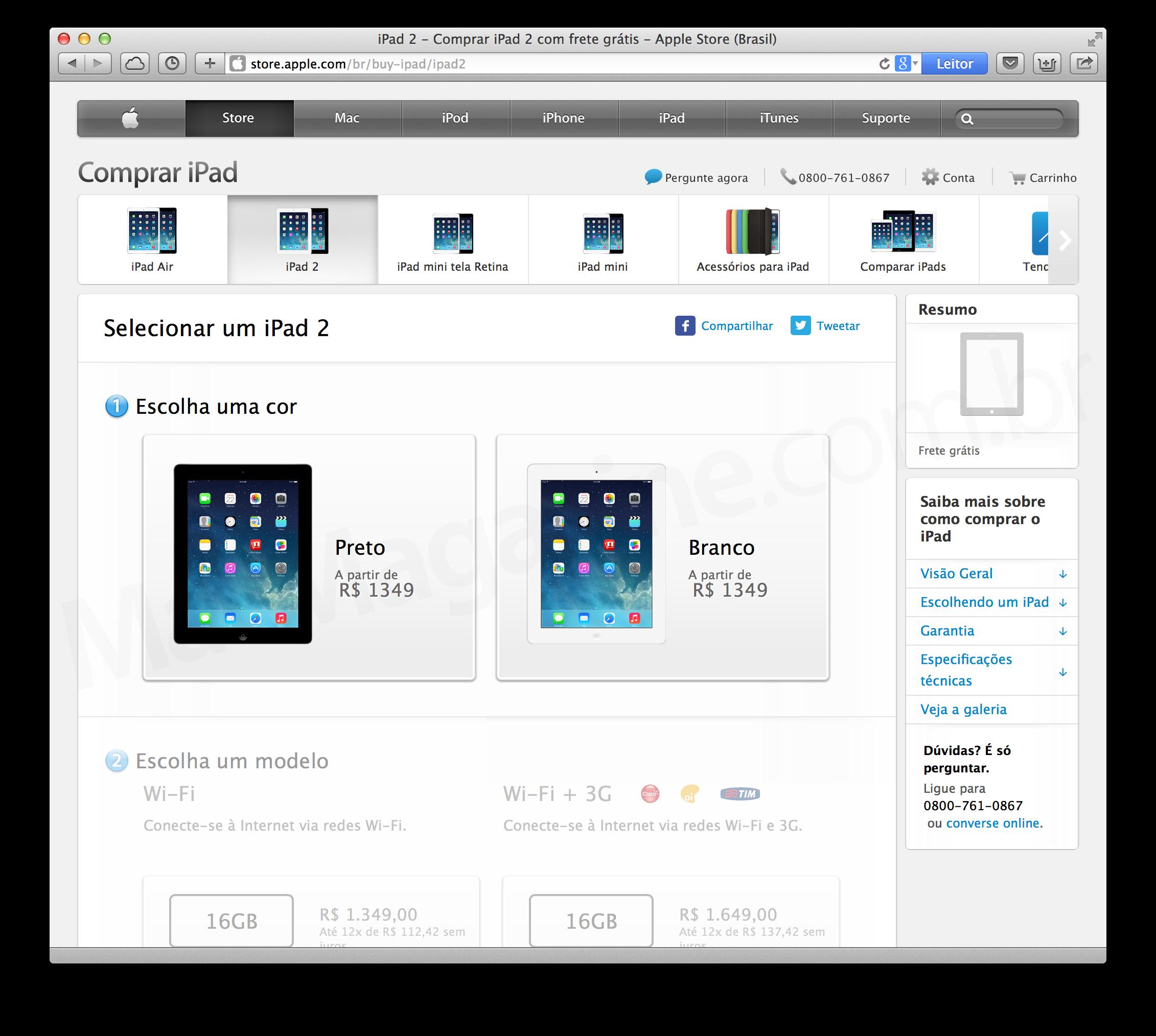 iPad 2 sendo aposentado