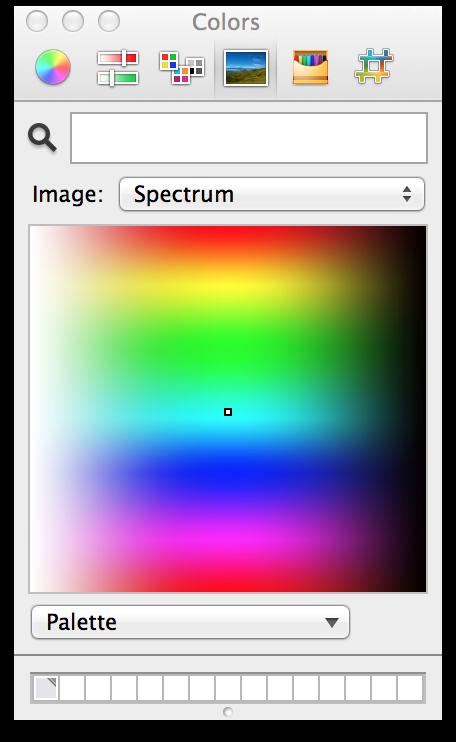 Janela Cores do OS X