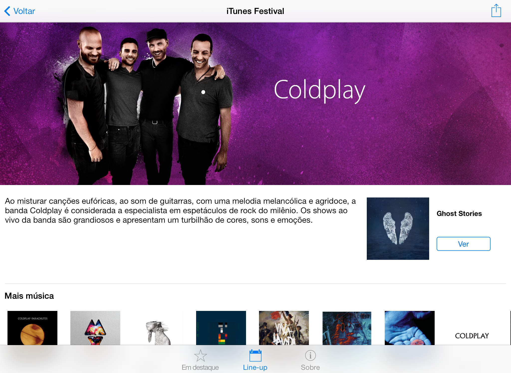 iTunes Festival no iPad