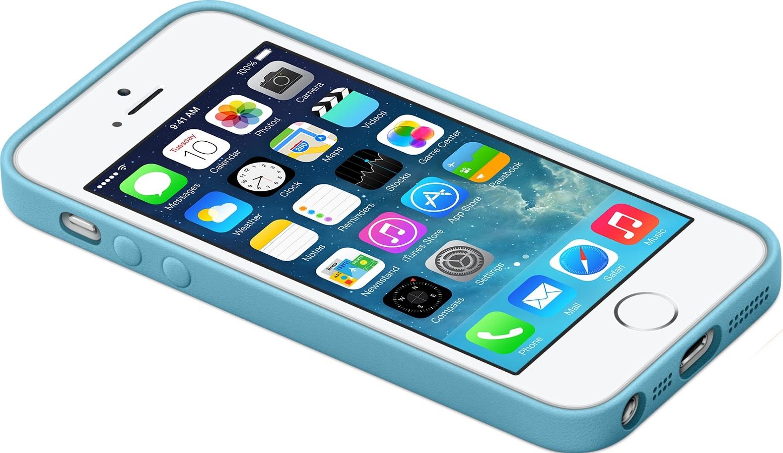 iPhone 5s com case deitado