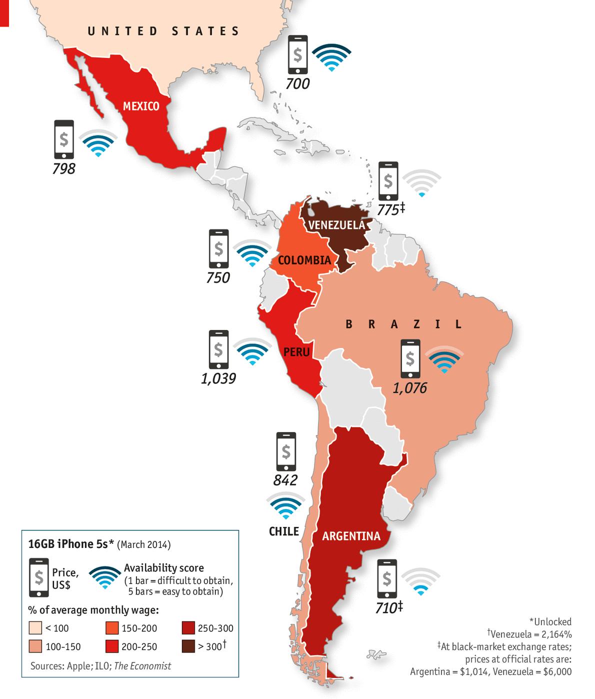 iPhone 5s na América Latina