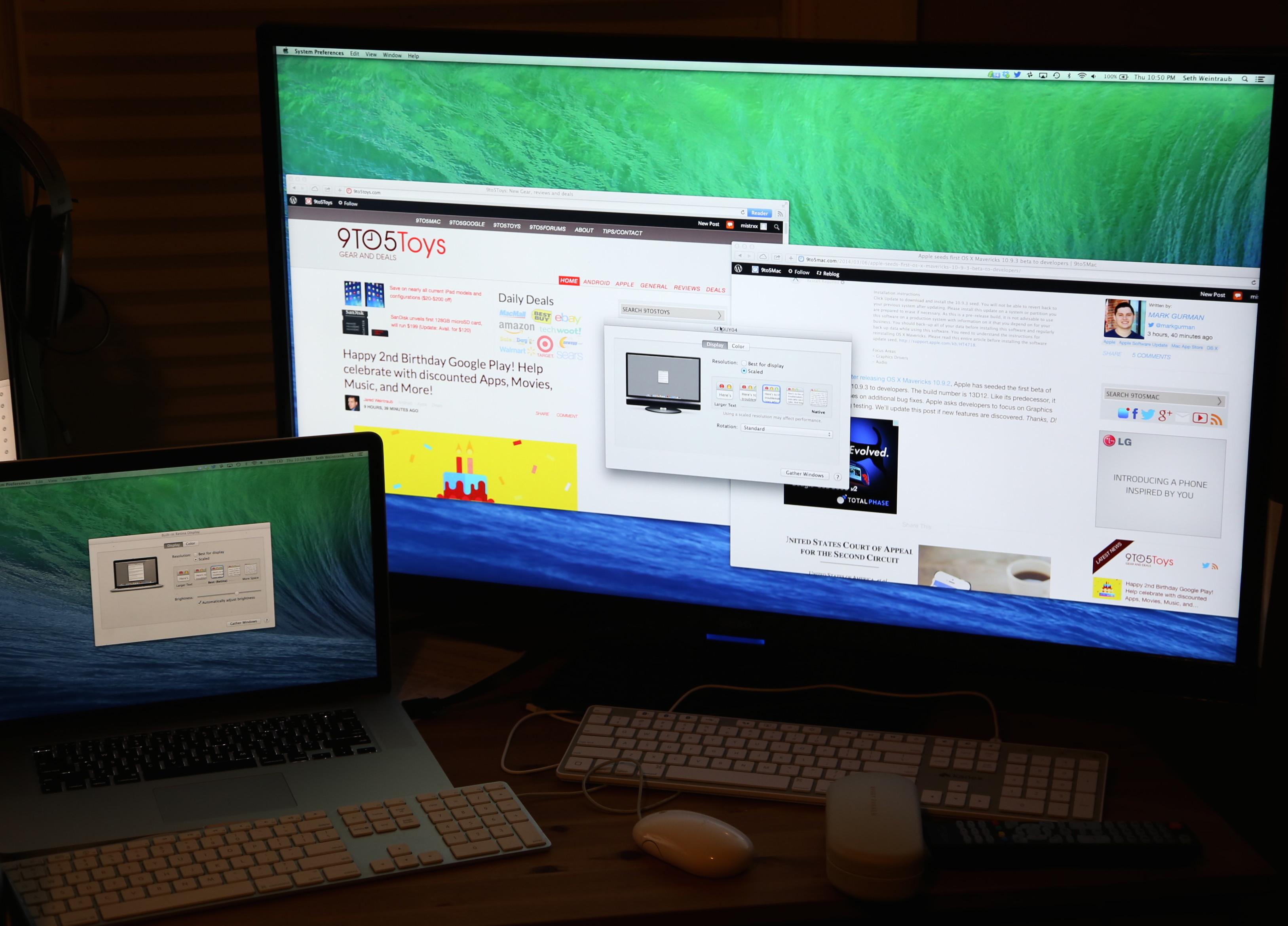 Resolução Retina num monitor 4K no OS X 10.9.3