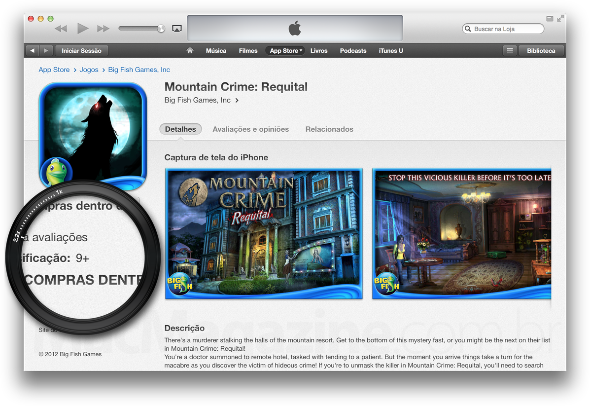 Mountain Crime: Requital na App Store (iTunes)