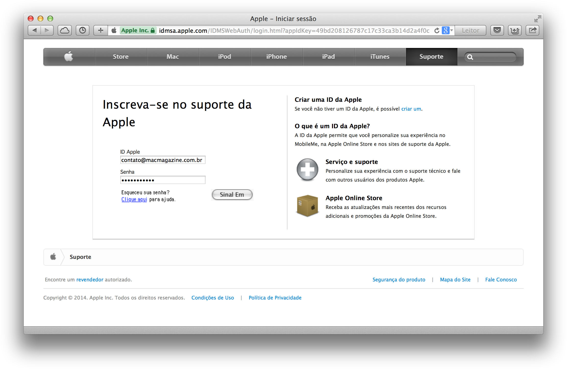 Apple - Sinal Em