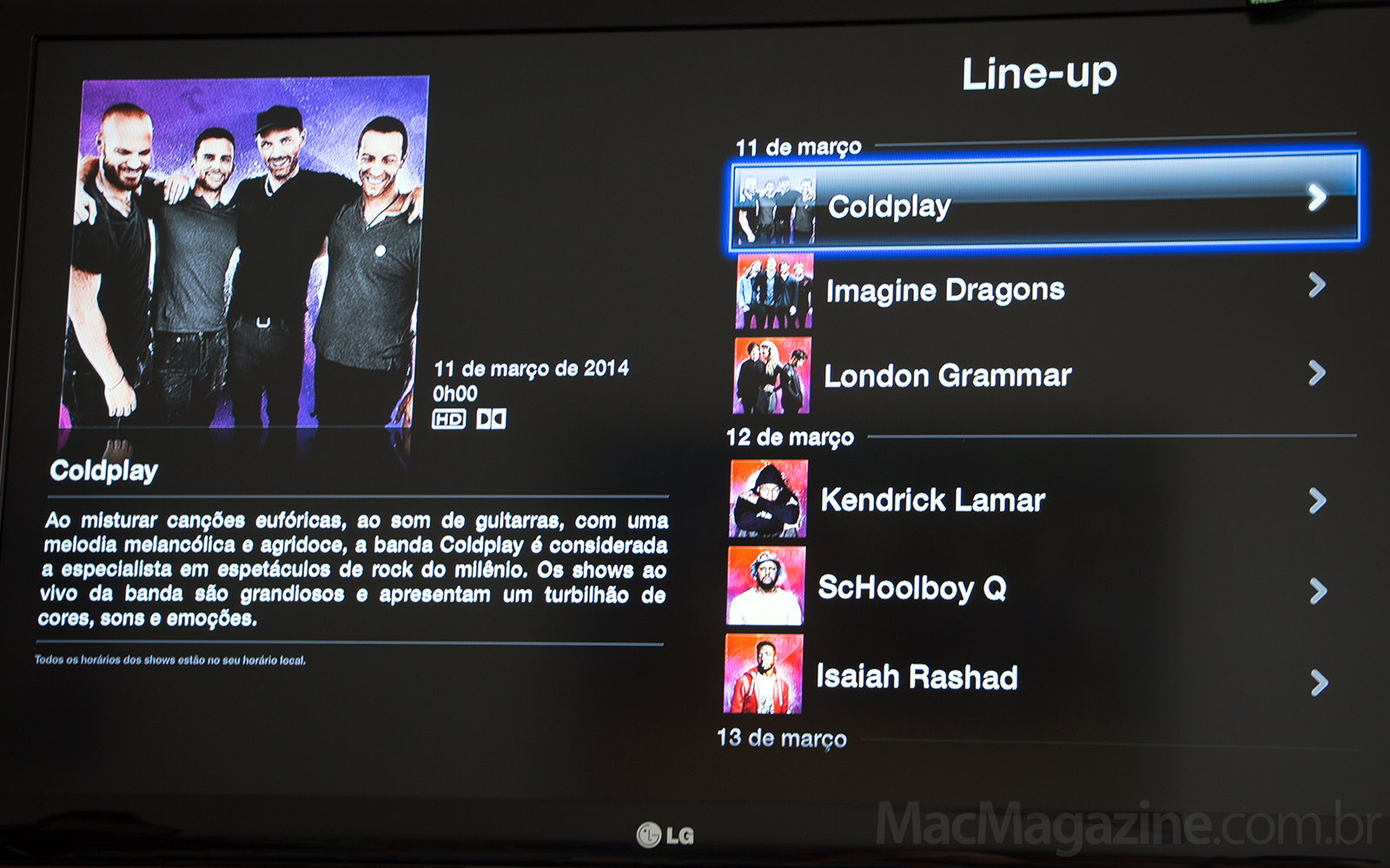 iTunes Festival no SXSW na Apple TV