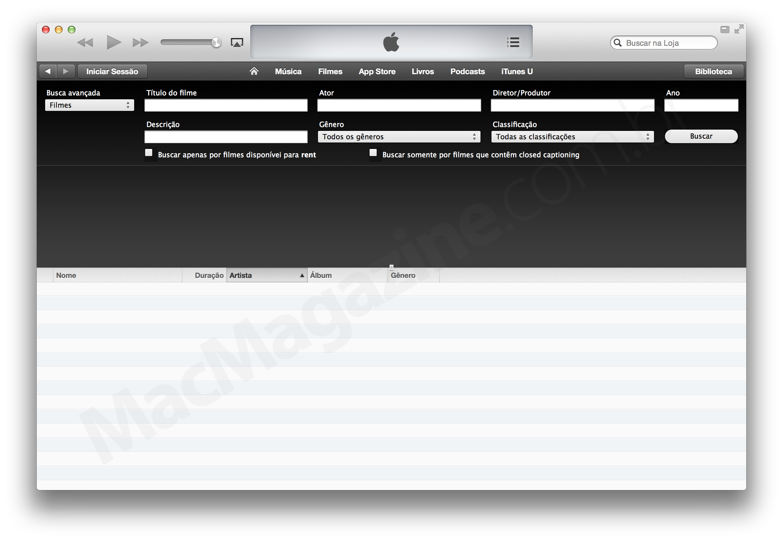 Busca avançada na iTunes Store