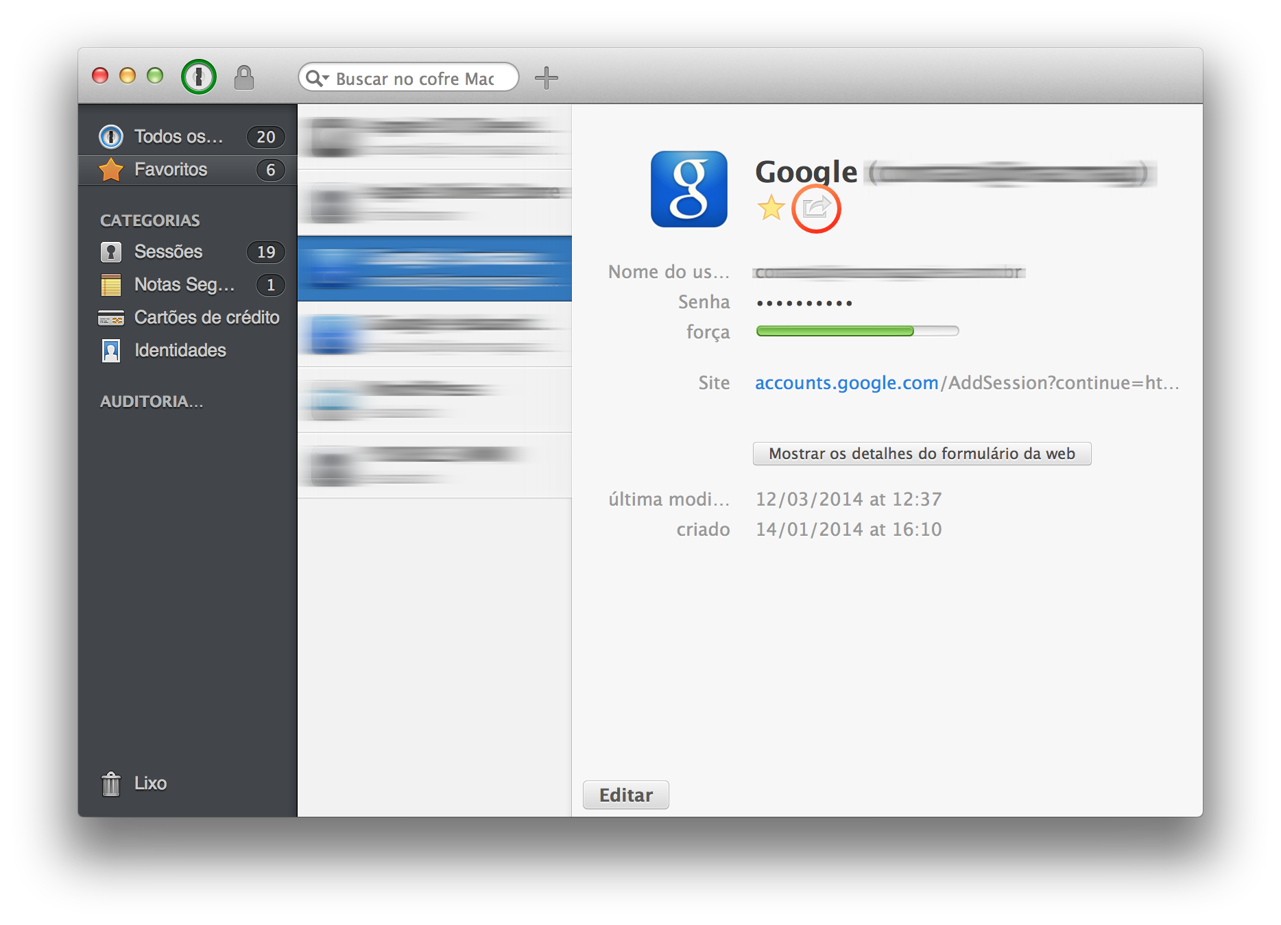 1Password para OS X