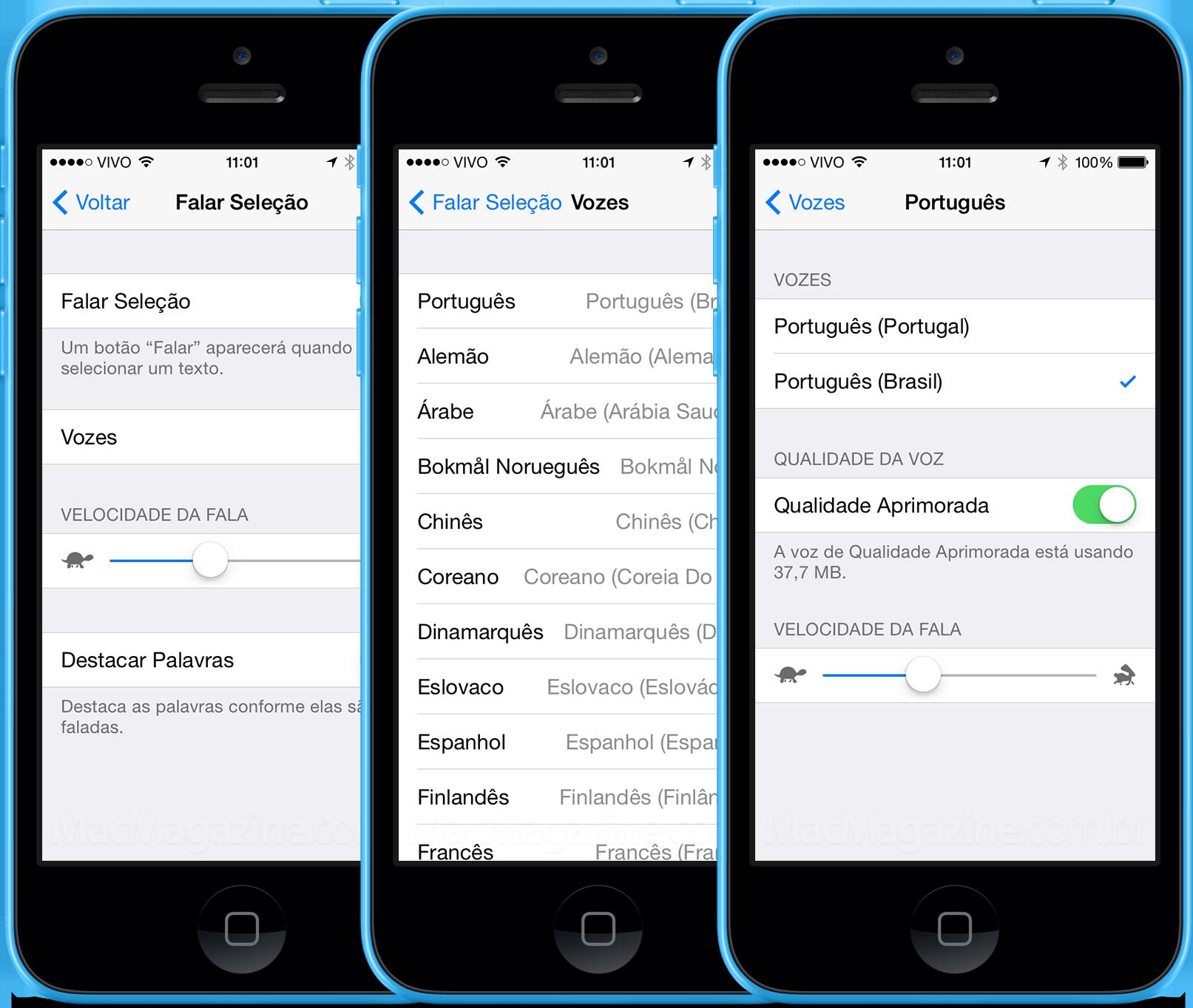 Falar Seleção no iOS