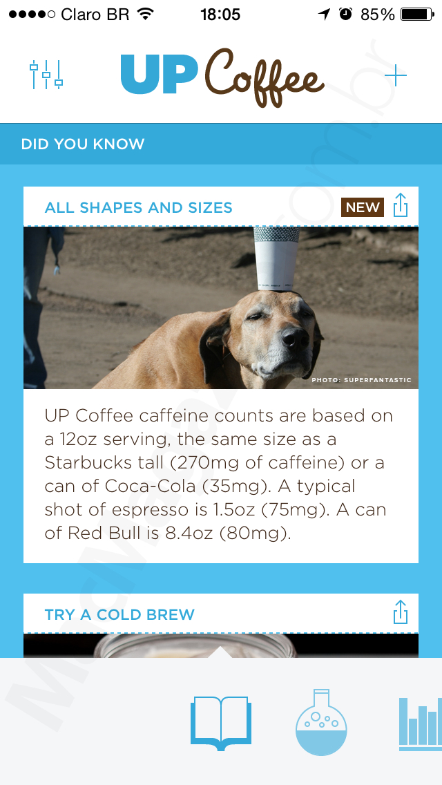 App UP Coffee para iPhones/iPods touch