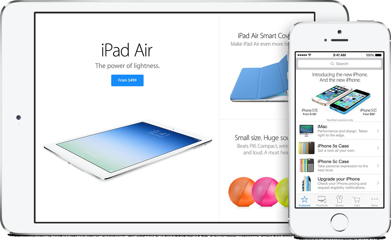 Aplicativo Apple Store para iOS