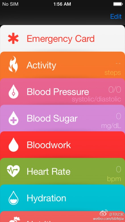 Screenshot supostamente real do Healthbook