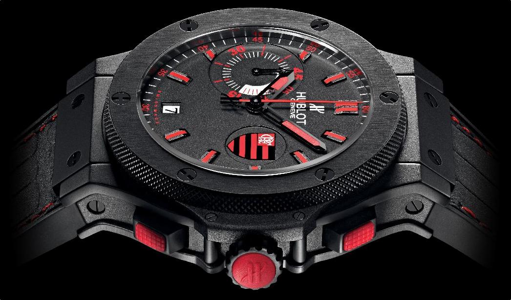 Relógio fabricado pela Hublot em homenagem ao Flamengo