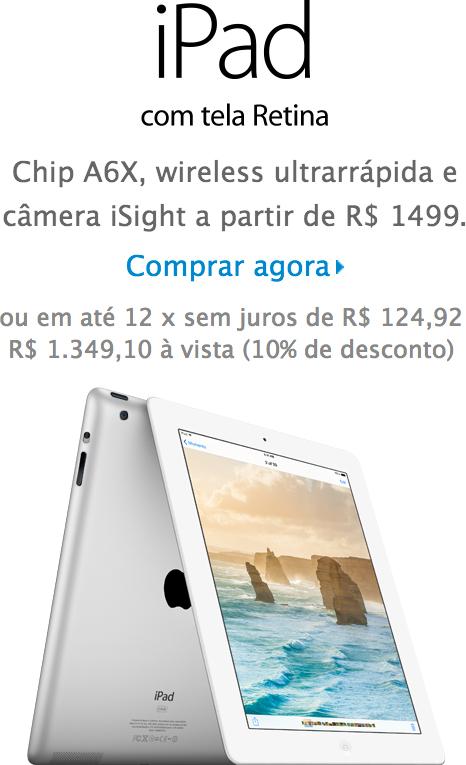 iPad com tela Retina