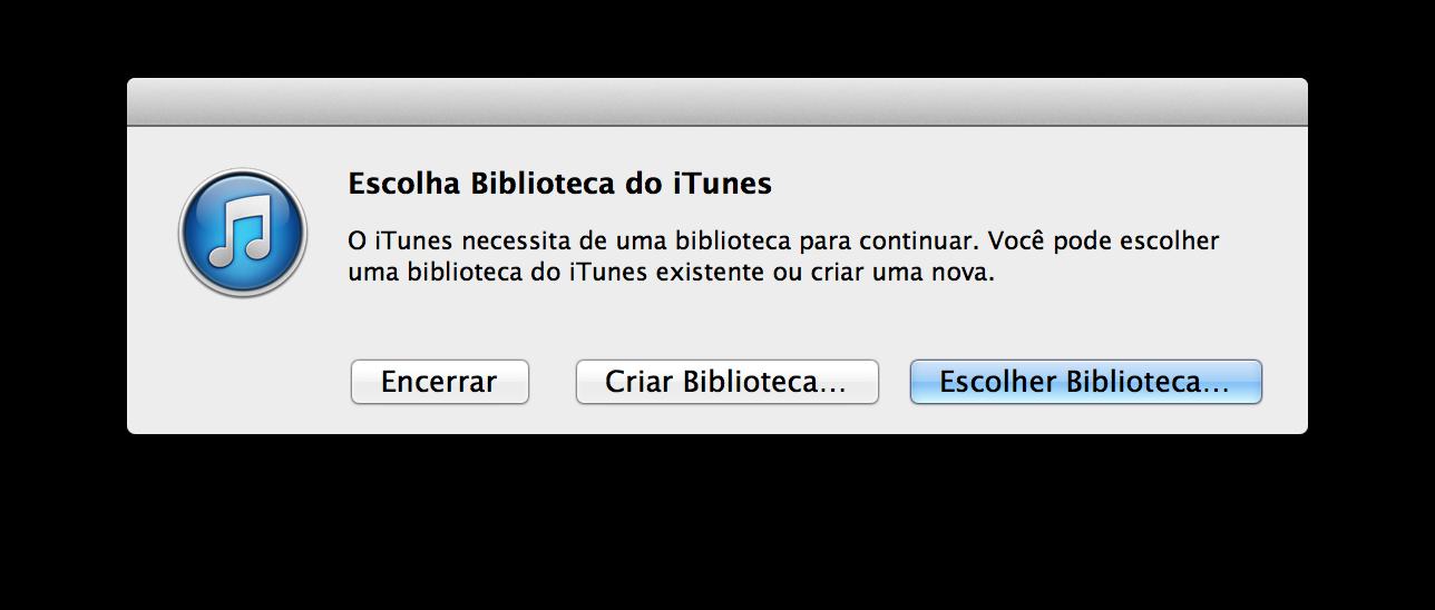 Alerta do iTunes