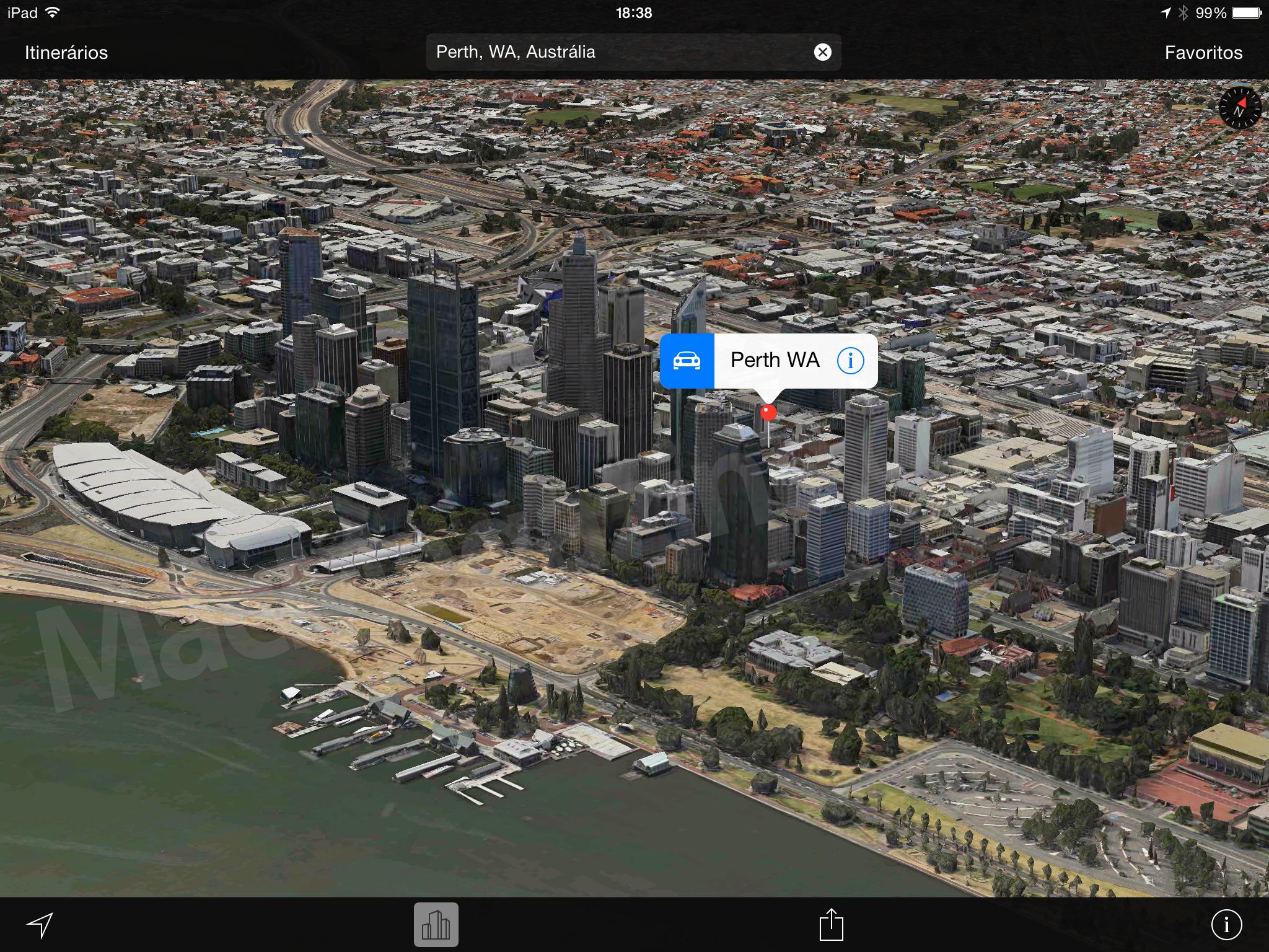 Flyover em Perth, na Austrália