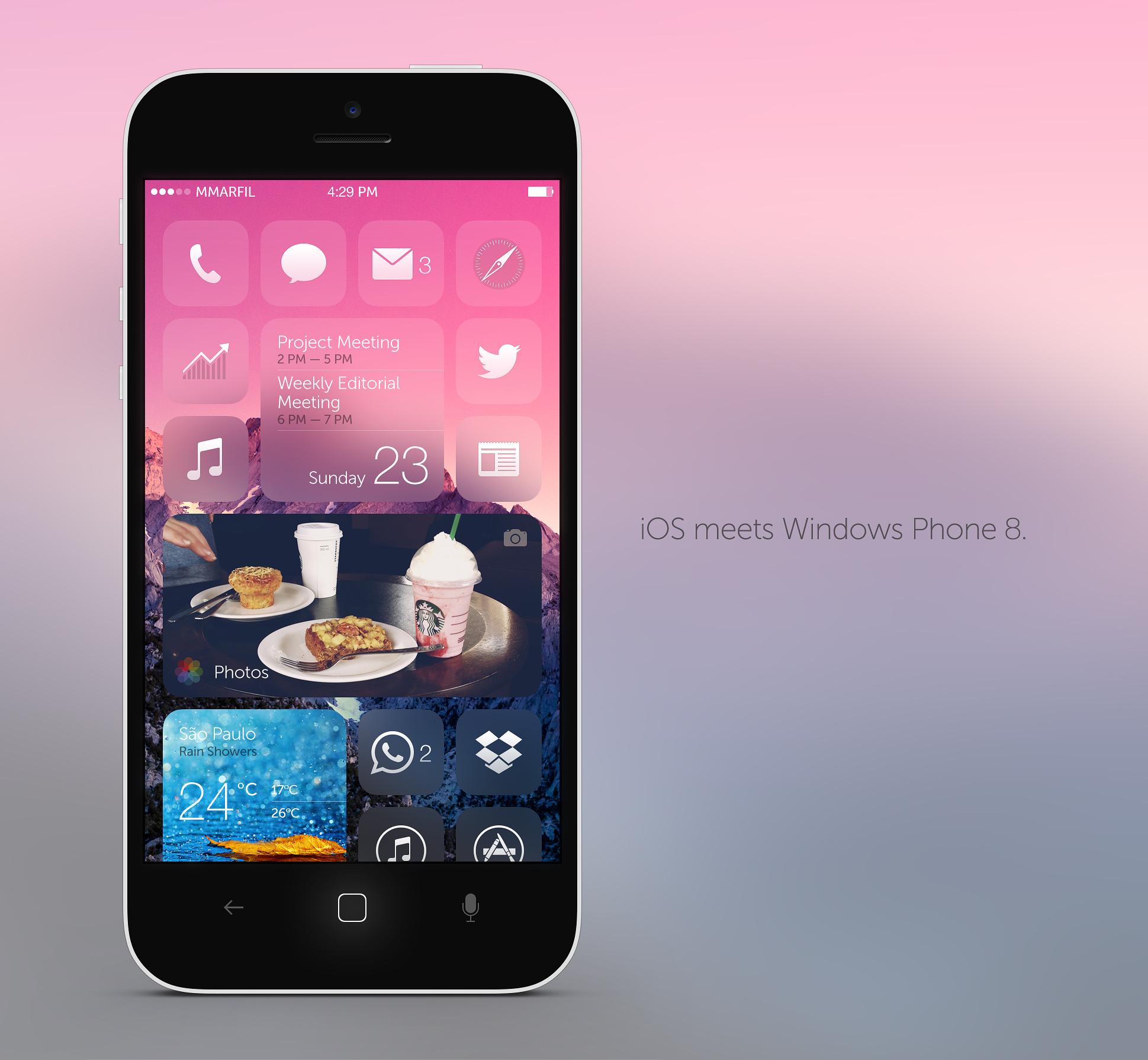 Casamento do iOS com o Windows Phone 8