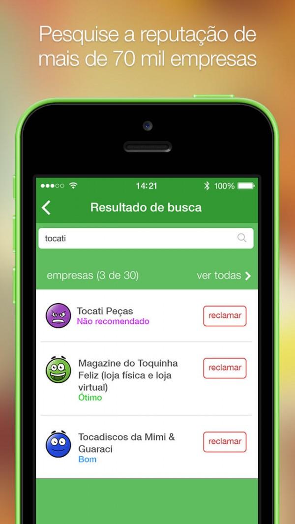App do Reclame Aqui