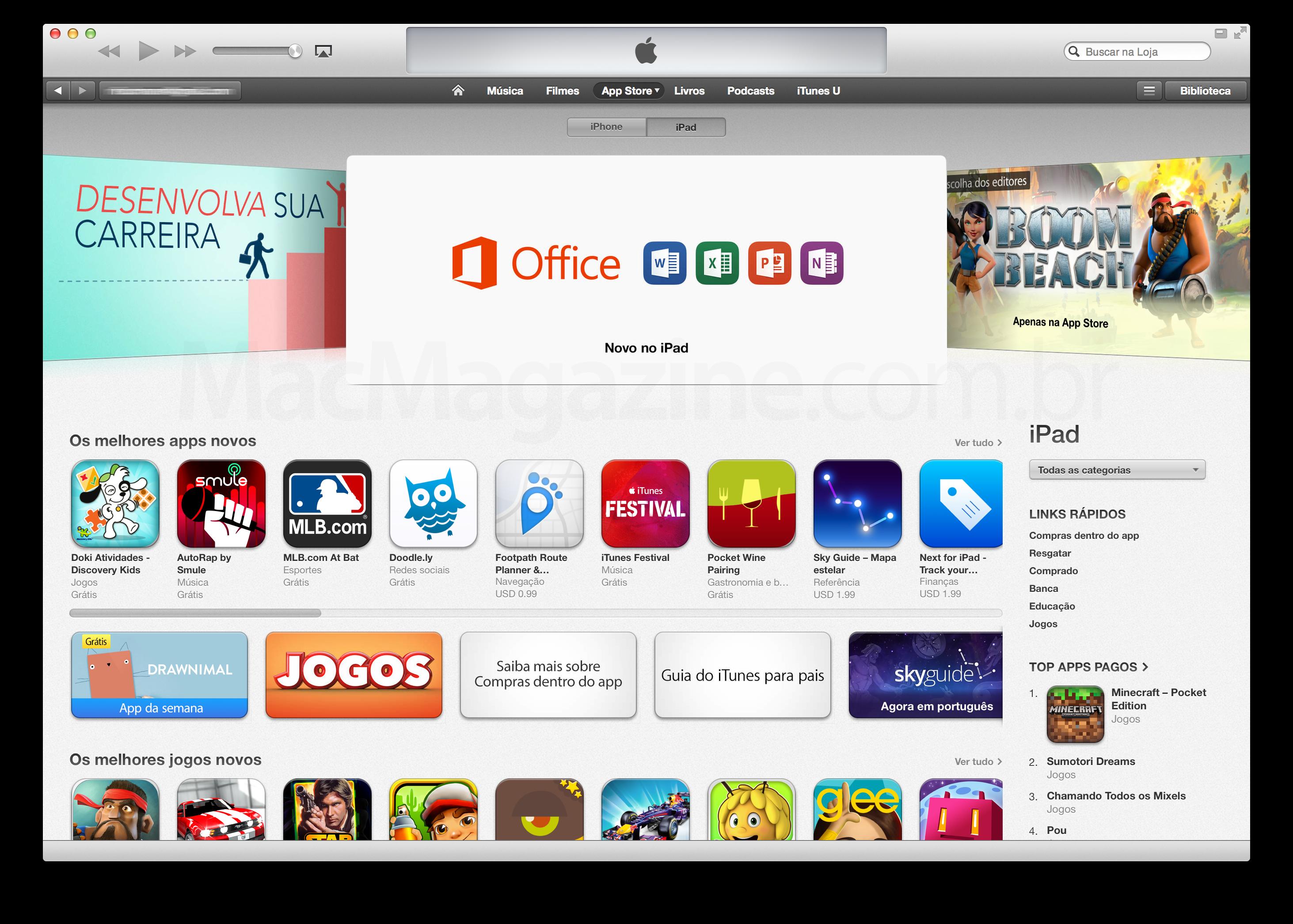 Office em destaque na App Store