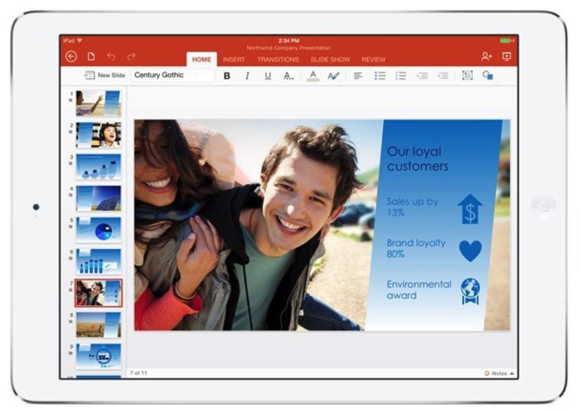 PowerPoint no iPad
