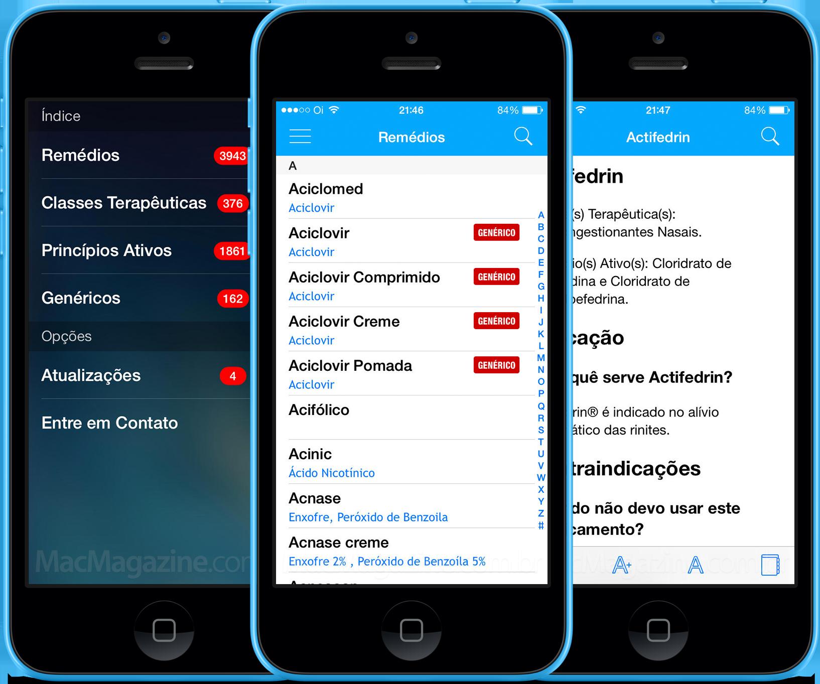 Remédios e Bulas em iPhones