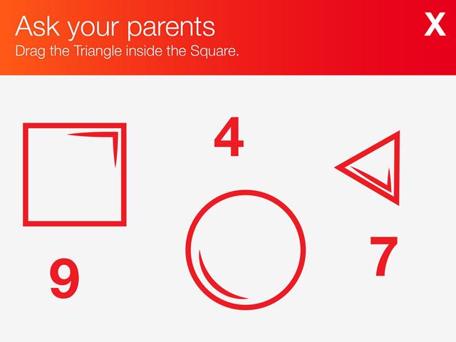 Sugestão de parental gate da Apple