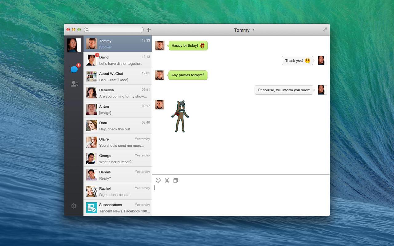 WeChat para OS X