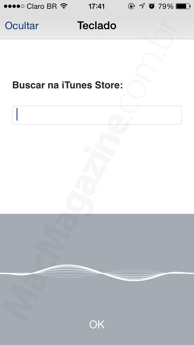 Busca por voz na Apple TV