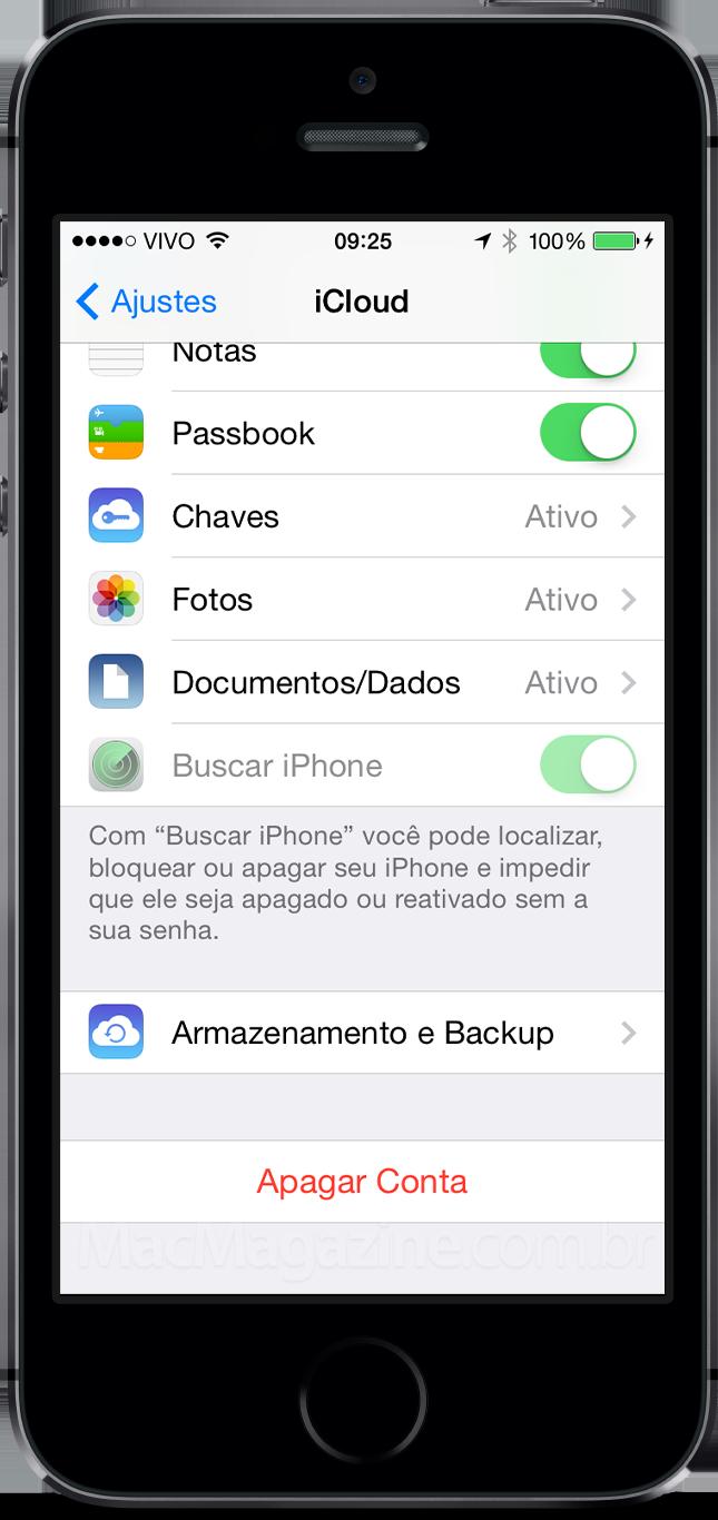 Buscar Meu iPhone desativado