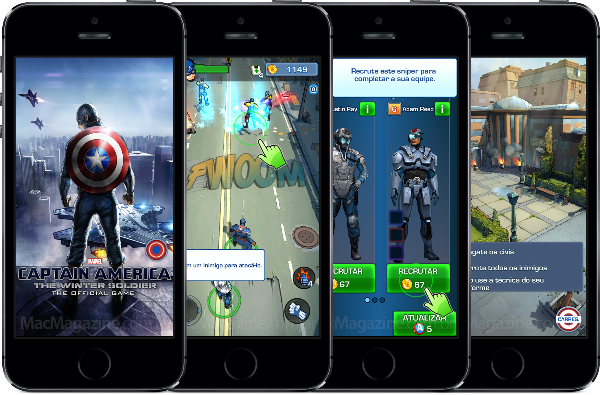 Jogo do Capitão America 2 em iPhones