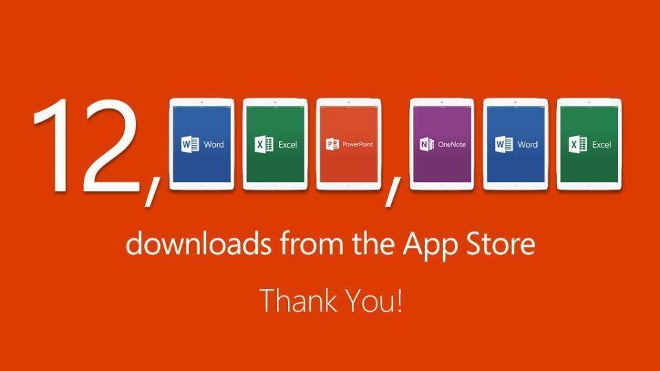 Downloads do Office para iPads