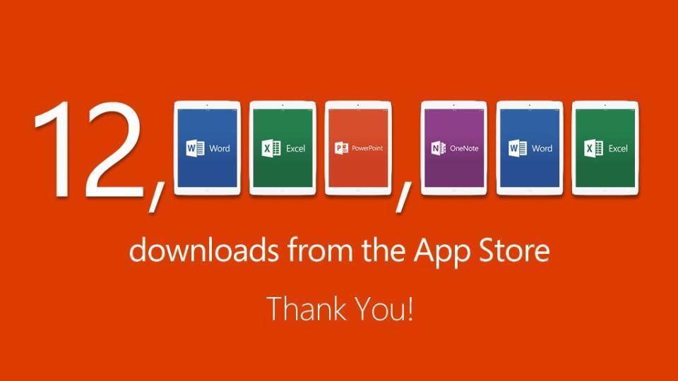 Downloads do Office para iPads