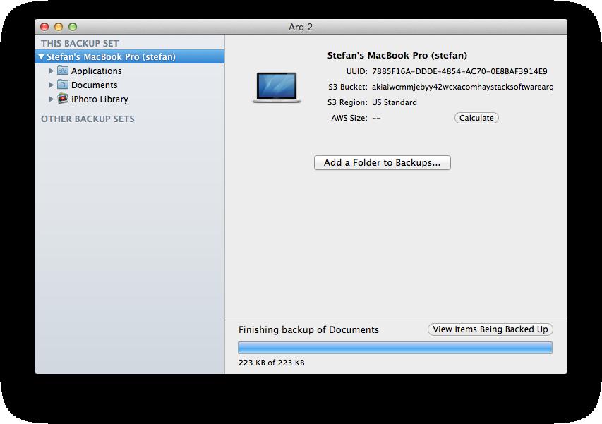 Arq - Mac OS X