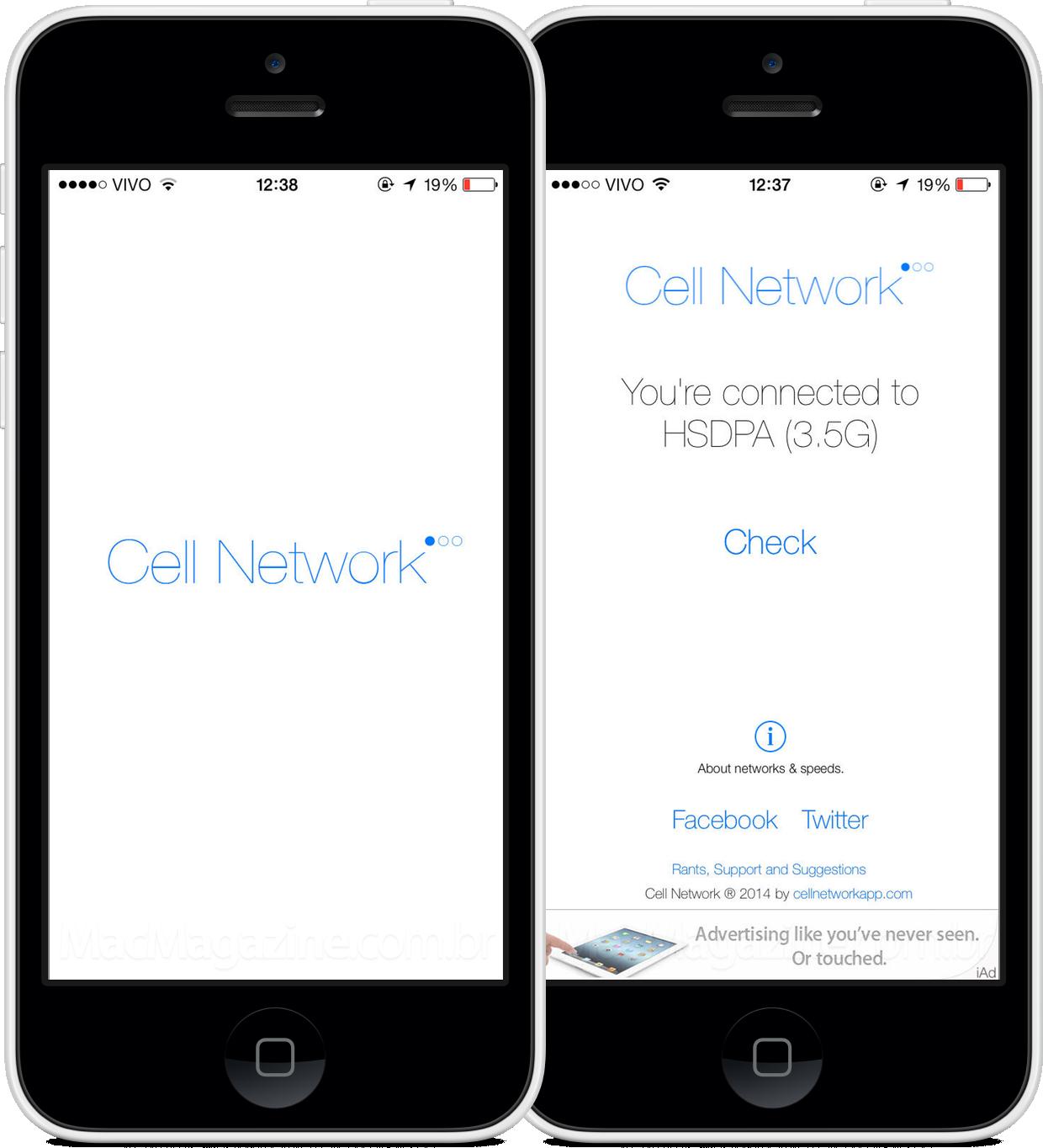 App Cell Network para iOS