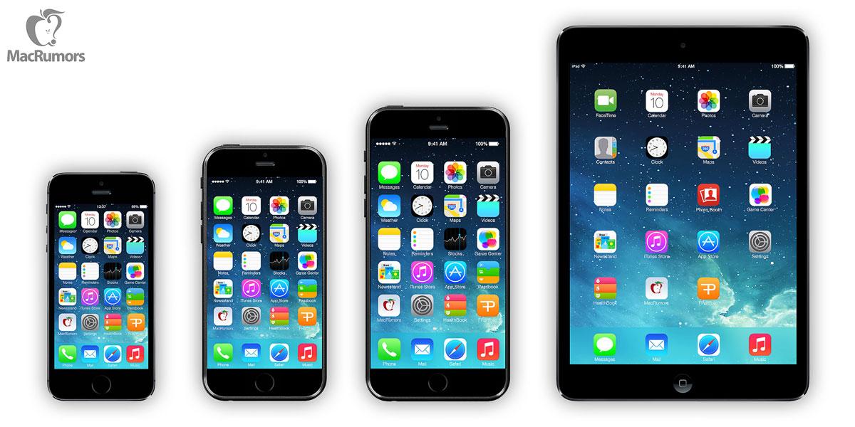 Mockup dos supostos novos iPhones 6