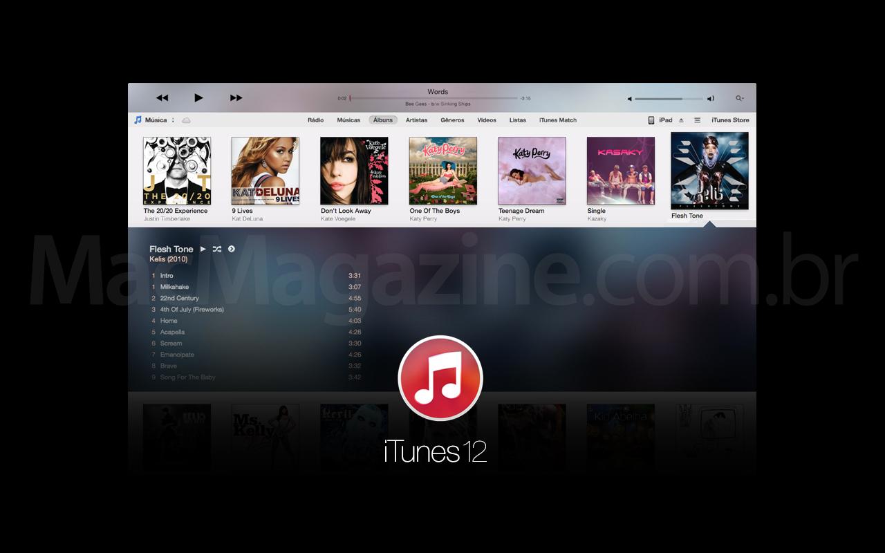 Mockup do iTunes 12