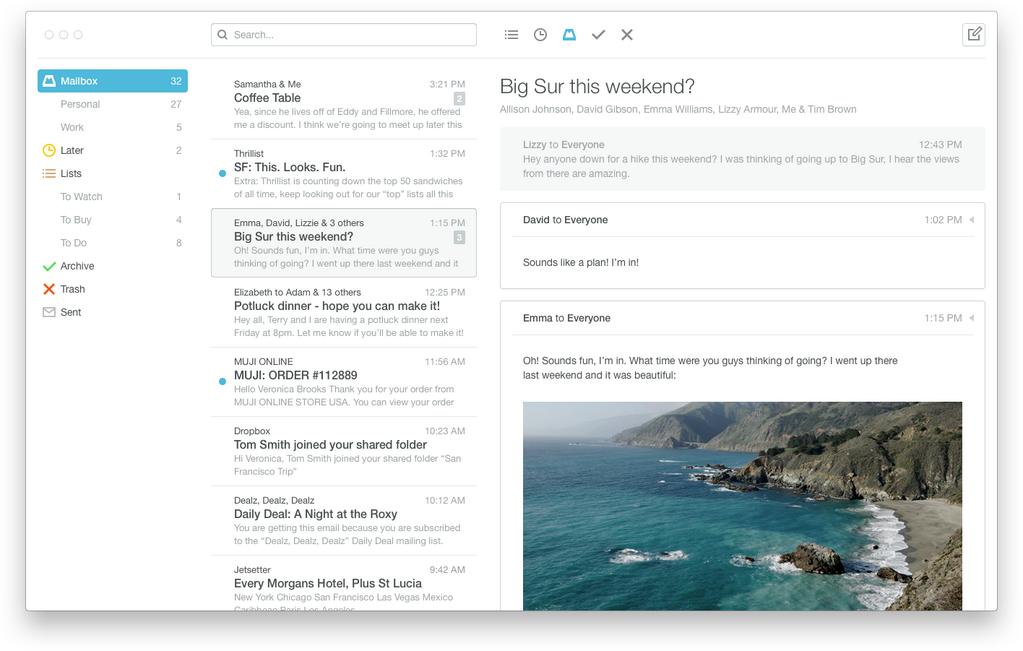 App Mailbox para OS X